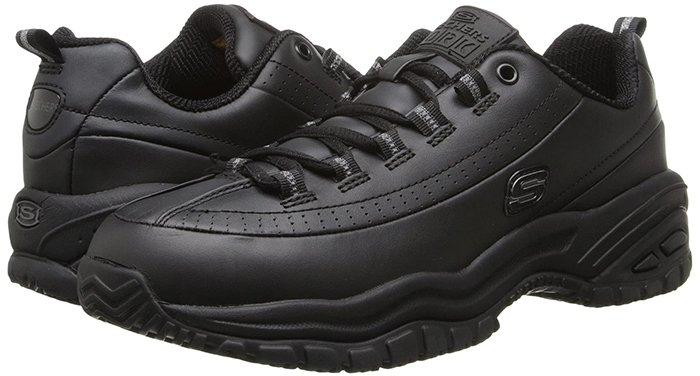 Black Skechers Work 'Soft Stride-Softie' Shoes