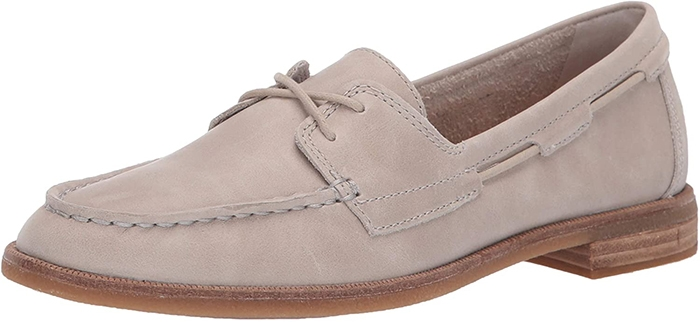 Gray Suede Sperry Seaport Boat Shoes