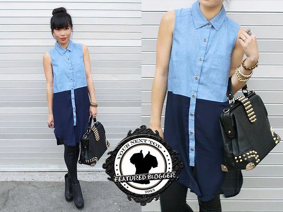 Toshiko shows how to wear a two-toned chambray shirt