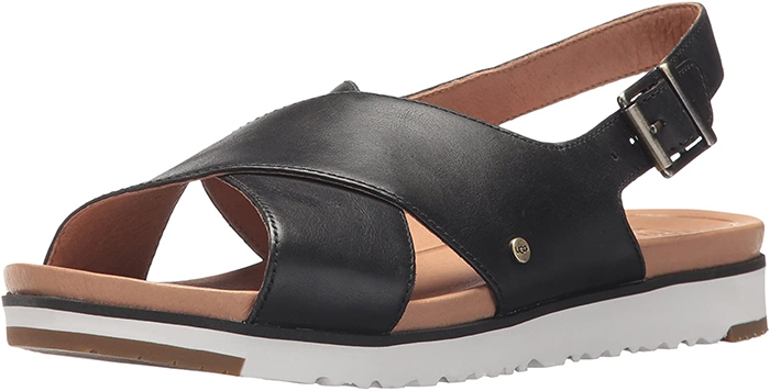 A sporty slingback sandal feels extra comfortable thanks to a memory-foam insole that cradles your foot with every step
