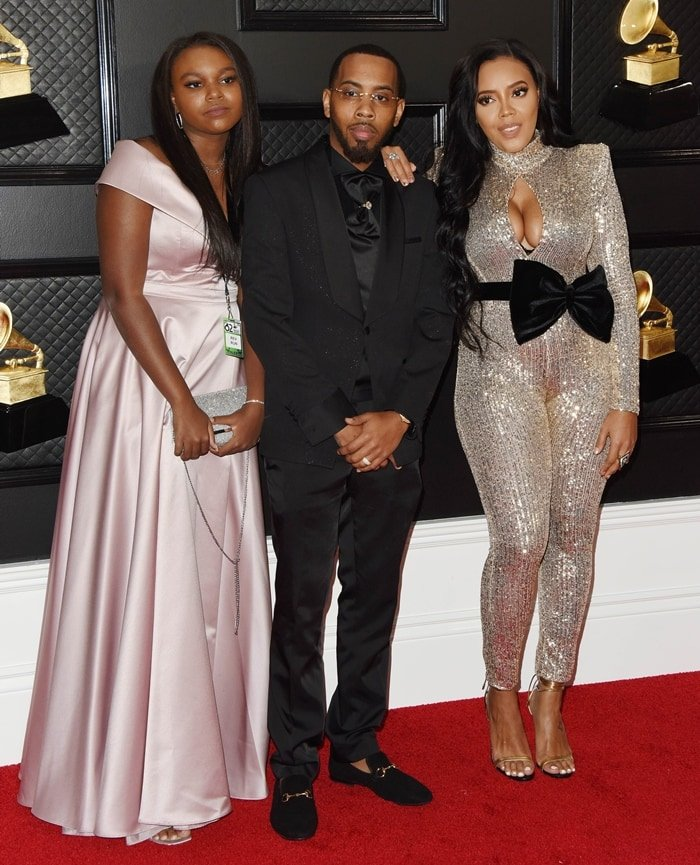 Angela Simmons, her adopted sister Miley Simmons, and her brother Joseph
