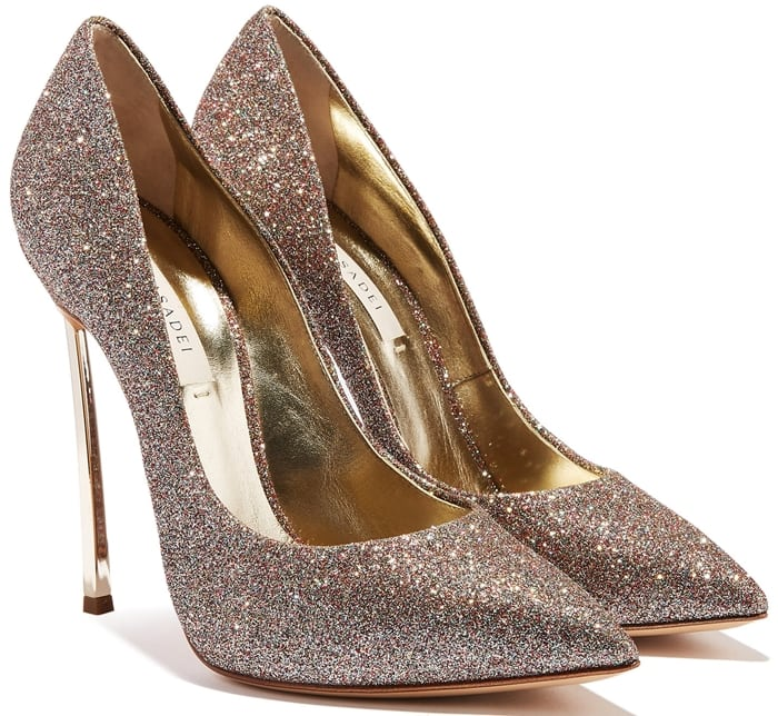 Glittering Blade pumps with their iconic heel will be your luxurious accessory perfect for any occasion