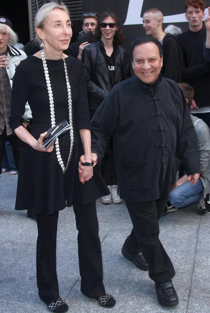 Tunisian-born couturier and shoe designer Azzedine Alaïa and his close friend Carla Sozzani