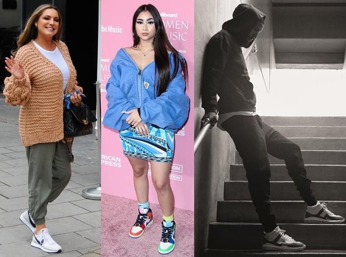 Kelly Brook, Paloma Mami, LeBron James wearing Nike shoes
