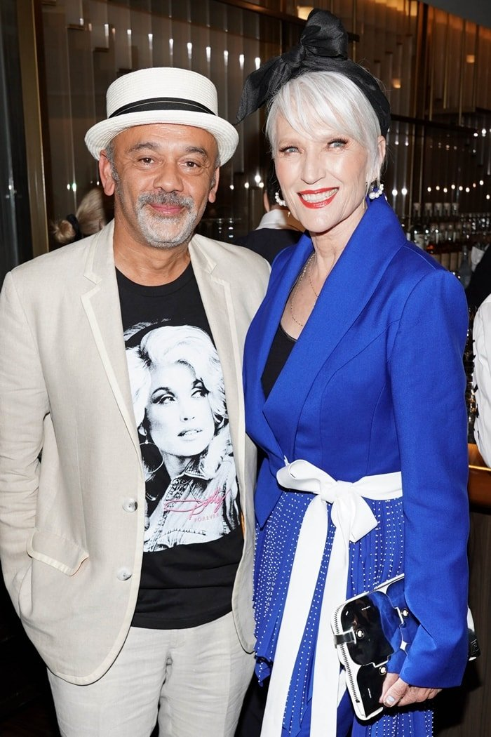 Christian Louboutin and Maye Musk, the mother of Elon Musk, attend The Daily Front Row's 7th Annual Fashion Media Awards