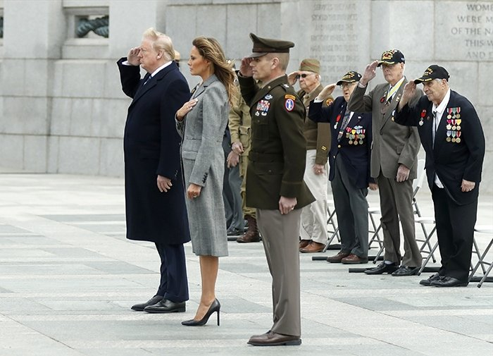 President Donald Trump and First Lady Melania Trump commemorate the 75th Anniversary of Victory in Europe Day on May 8, 2020