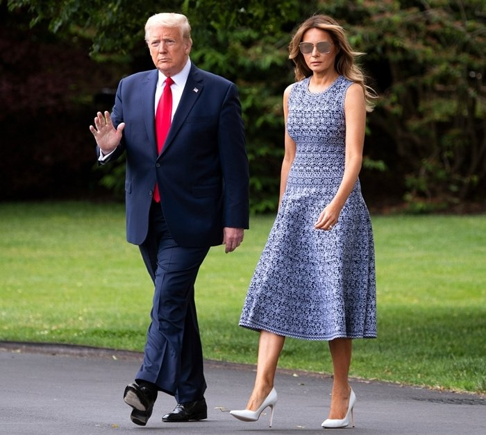 Donald Trump and his wife Melania Trump traveled from the White House to Florida on May 27, 2020, to watch the SpaceX launch of two U.S. astronauts