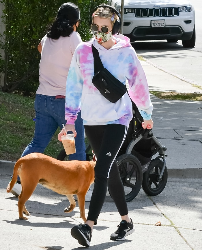 Emma Roberts has been ordered by Los Angeles Mayor Eric Garcetti to cover her face when outside