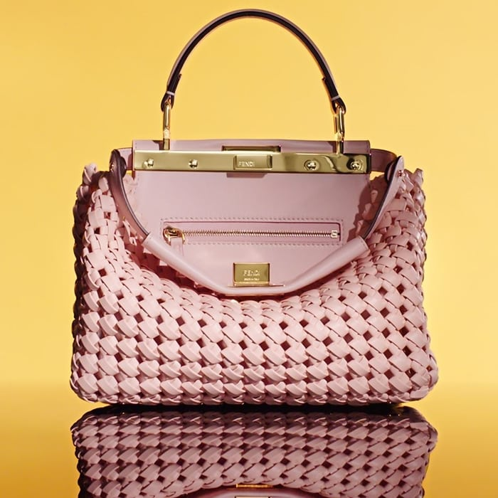 Fendi Peekaboo bag made with interwoven strips of lamb leather and calfskin