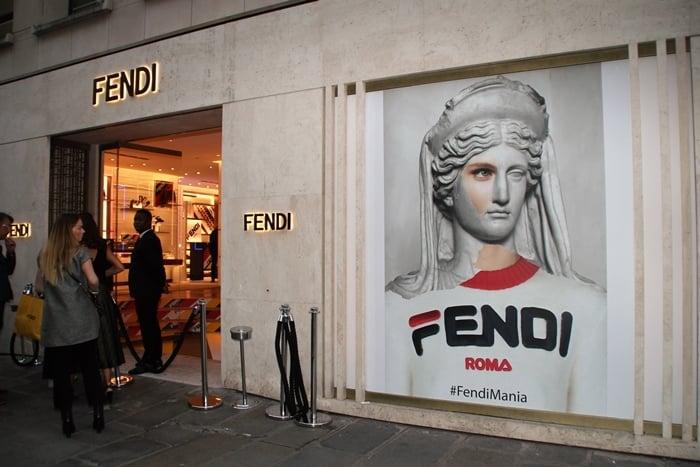 Fendi x Fila collaboration launch party at Fendi Paris