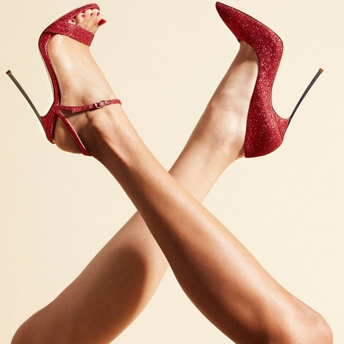 Stunning red Casadei stiletto heels for any occasion