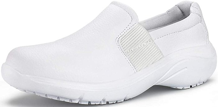 White Hawkwell Comfort Slip-Resistant Nursing Shoes