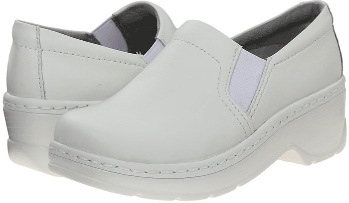White Klogs Naples Nursing Clogs