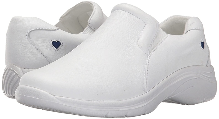 White Nurse Mates Dove Slip-On Shoes