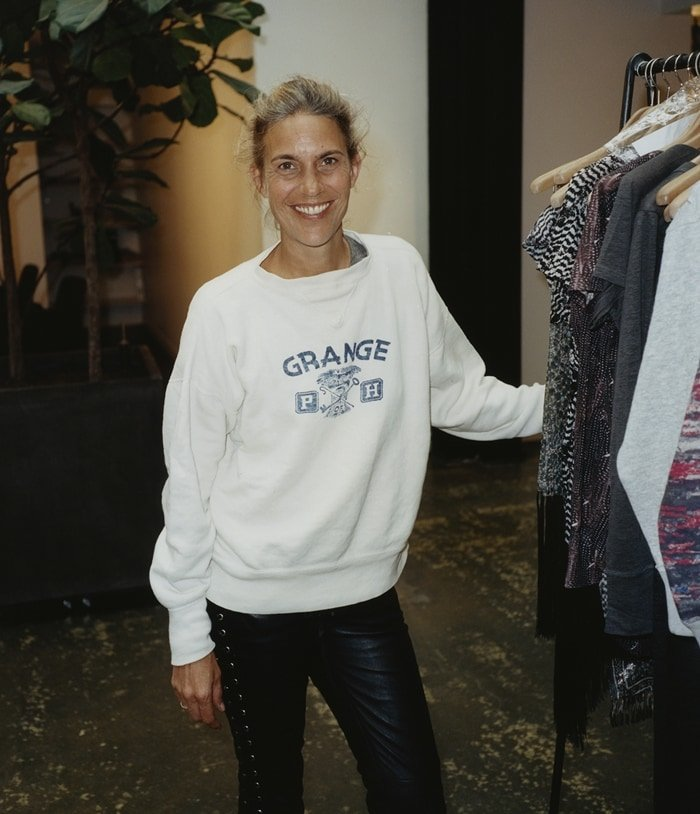 Isabel Laurent at the launch of her collaboration with H&M in 2013. It was so successful that the company's website crashed under the demand and the collection was sold out within 45 minutes