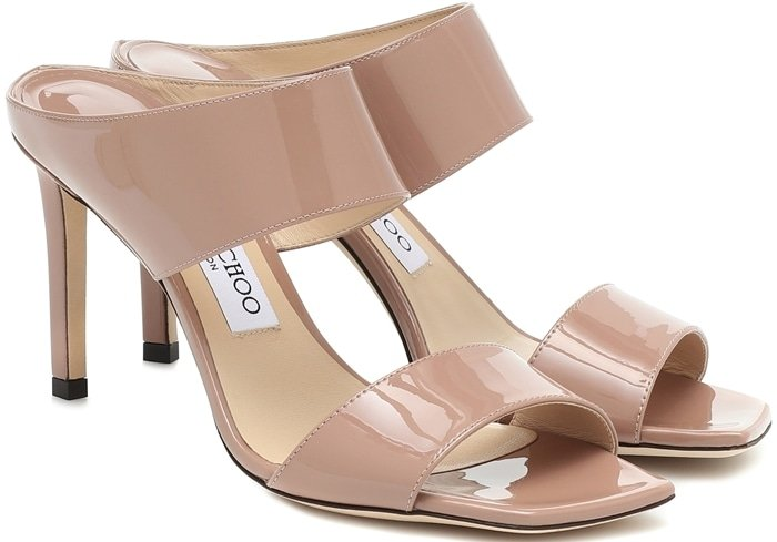 These patent leather ballet pink Hira sandals will send your style stratospheric