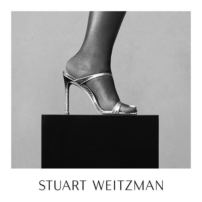 Stuart Weitzman Aleena sandals as seen on Serena Williams