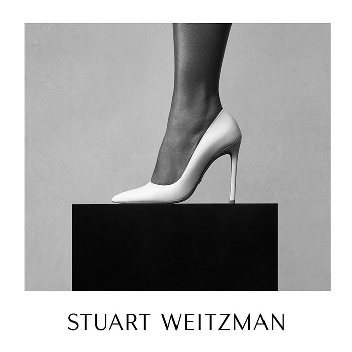 A close-up of Stuart Weitzman Anny pumps as seen on Serena Williams