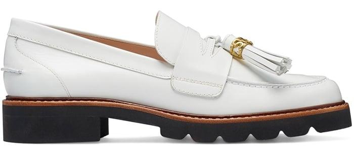White Stuart Weitzman Manila Signature loafers