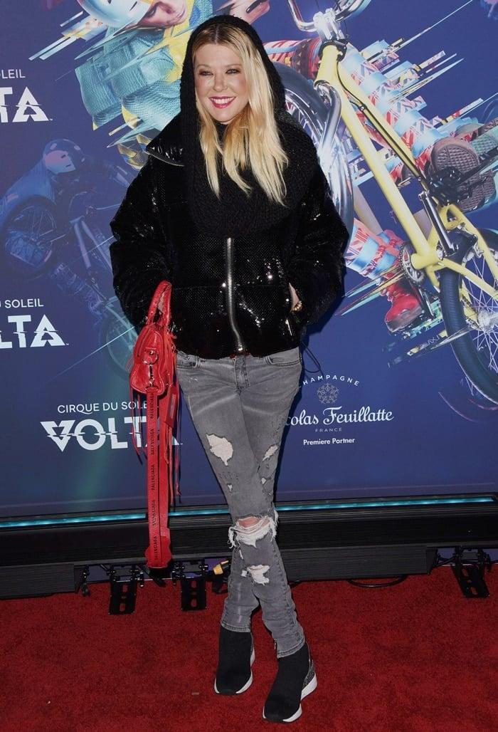 "Tara Reid attends the LA Premiere Of Cirque Du Soleil's ""Volta"""