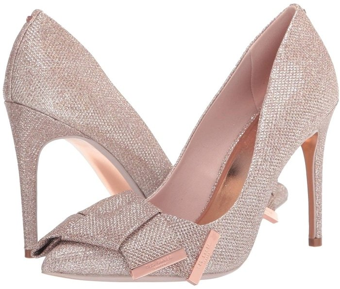 Glittering Rose Gold Iinesm Pumps