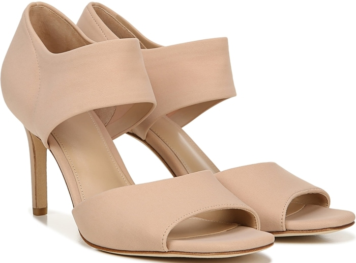 Wear-everywhere sandals constructed with an elasticized upper to secure your foot