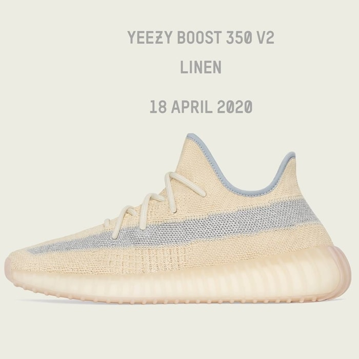 Linen, the newest colorway of the Yeezy 350 V2, quickly sold out after being released on Eastbay on April 18, 2020