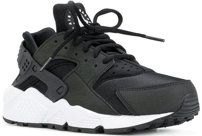 Nike Air Huarache sneakers in black and white