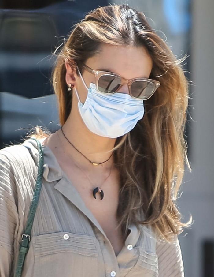 Alessandra Ambrosio's Garrett Leight x Clare V. Nouvelle sunglasses