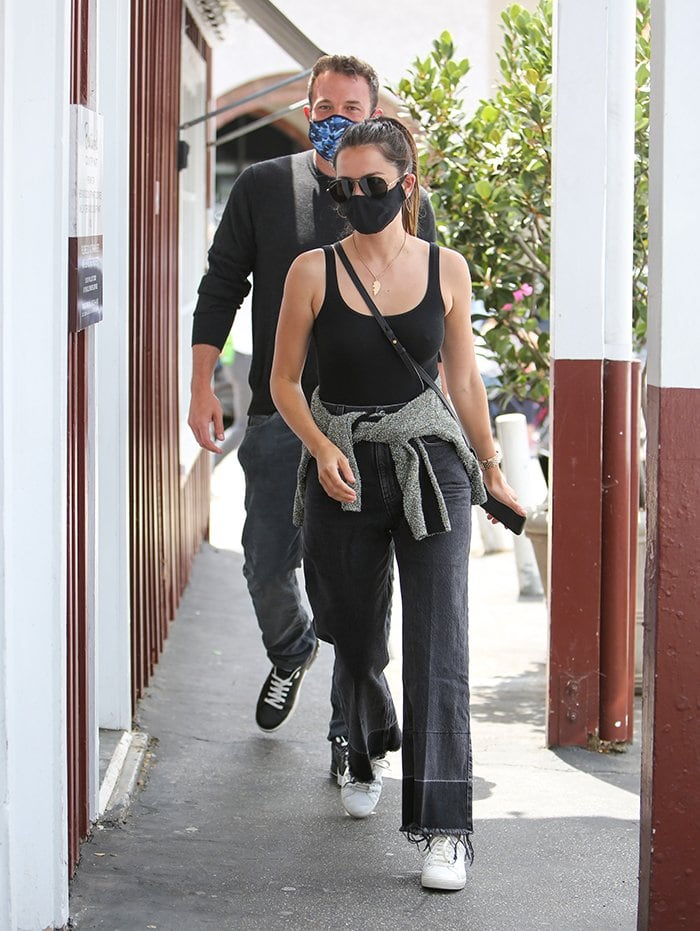 Ana de Armas goes braless on a lunch date with boyfriend Ben Affleck in Los Angeles on June 20, 2020
