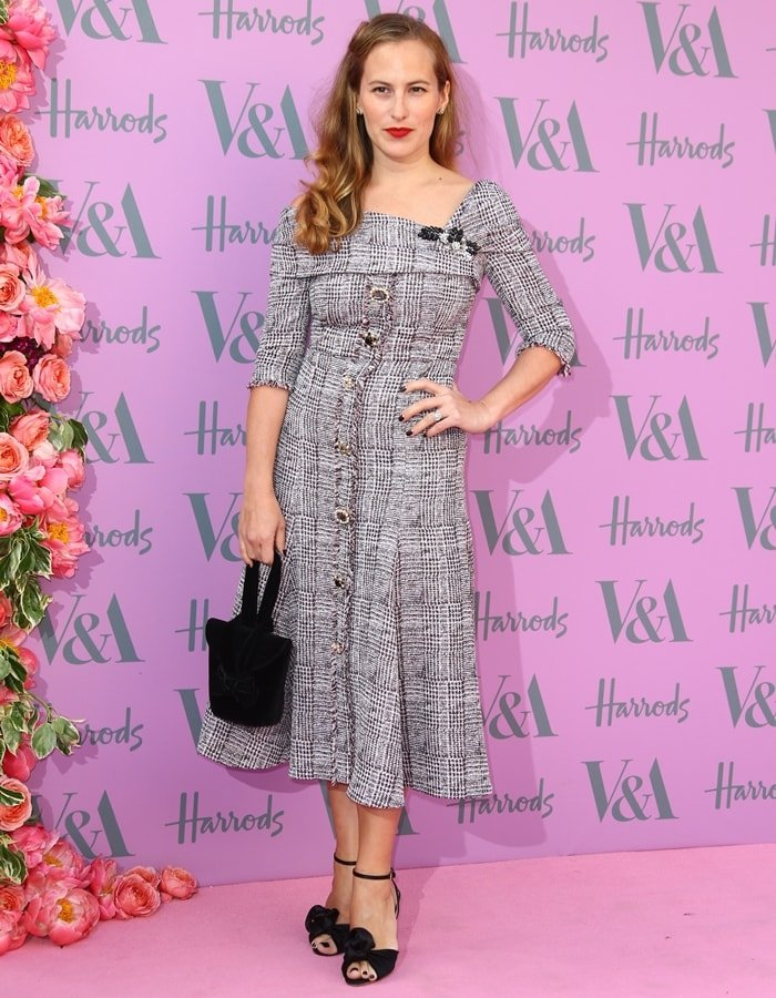 Footwear designer Charlotte Olympia Dellal attends the V&A Summer Party