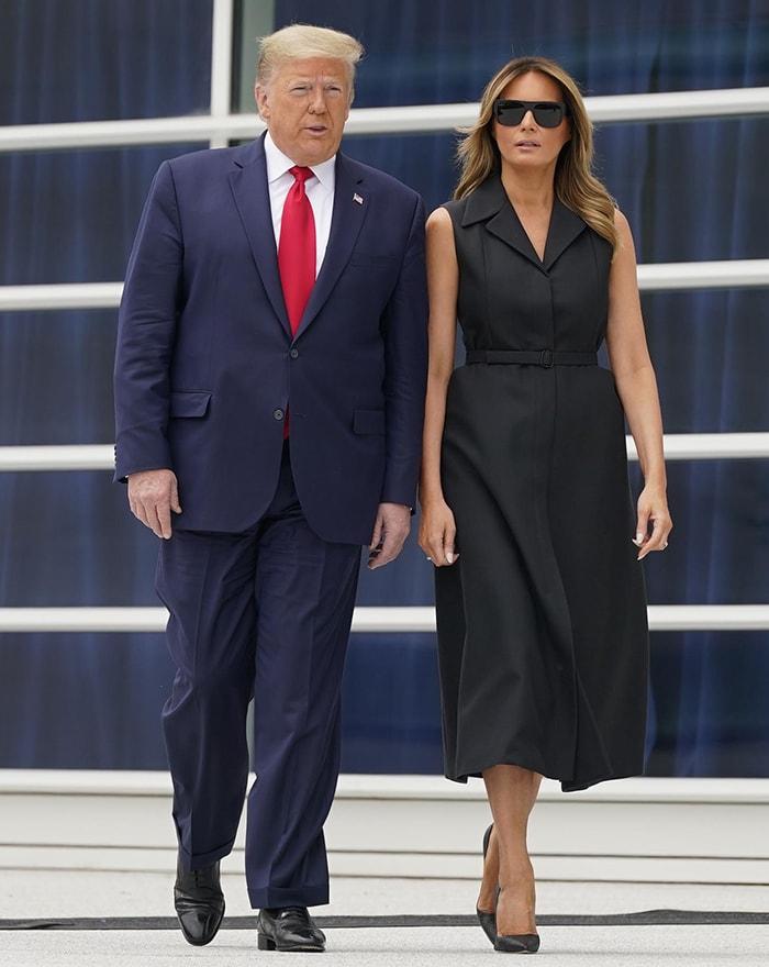 President Donald Trump and First Lady Melania Trump visit Saint John Paul II National Shrine in Washington, D.C. on June 2, 2020
