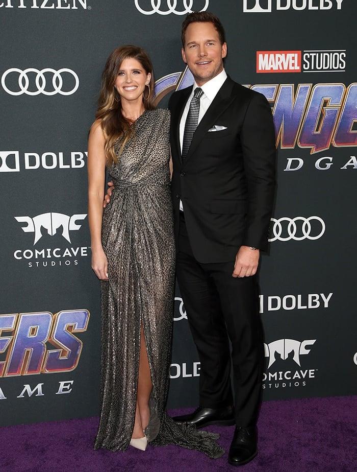 Katherine Schwarzenegger and husband Chris Pratt at the world premiere of Avengers: Endgame on April 22, 2019