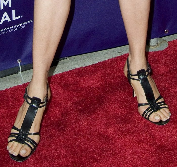 Famke Janssen's size 11 big feet