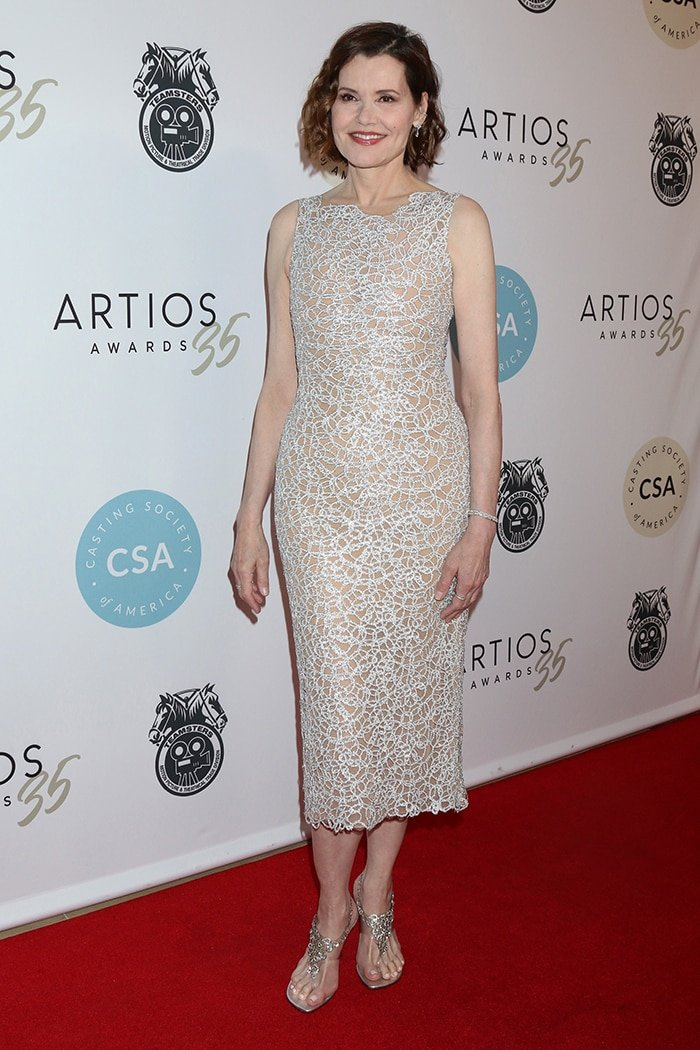 Geena Davis at the 35th Artios Awards at the Beverly Hilton Hotel on January 30, 2020