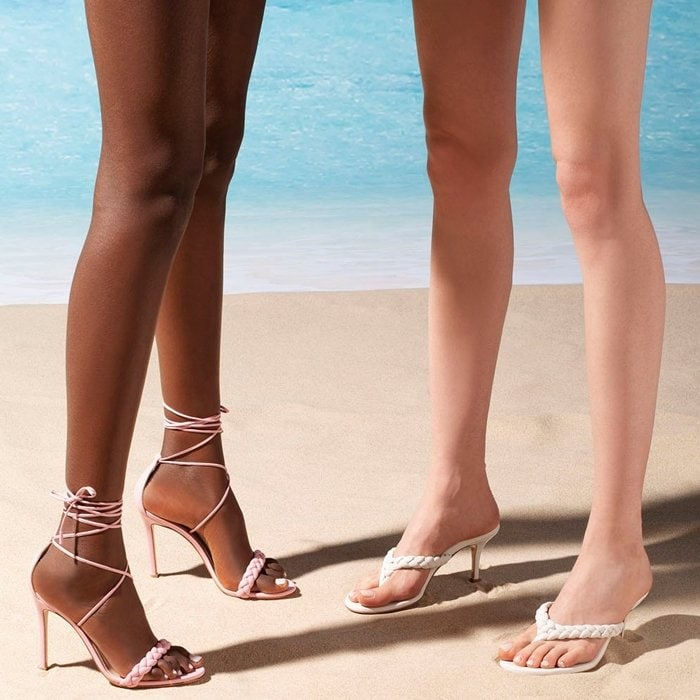 Pastel leather hues and supple braided details make the Gianvito Rossi's sandals a chic update to any summer wardrobe
