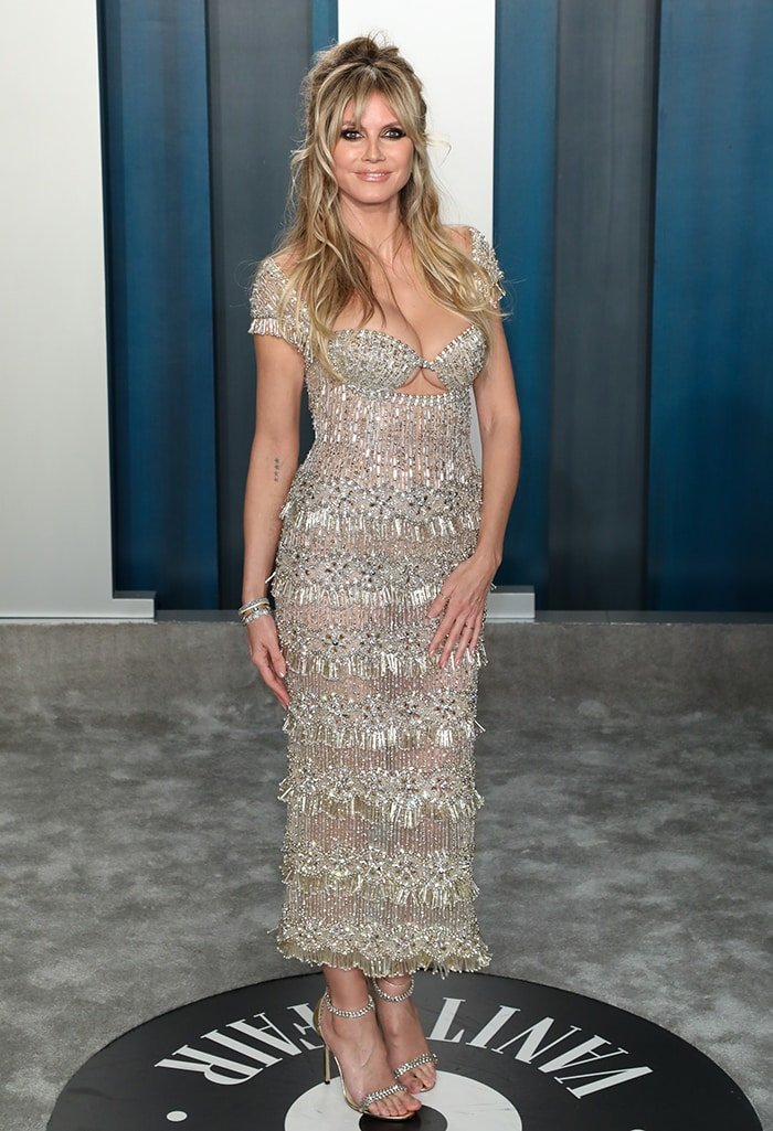 Heidi Klum at the 2020 Vanity Fair Oscar Party