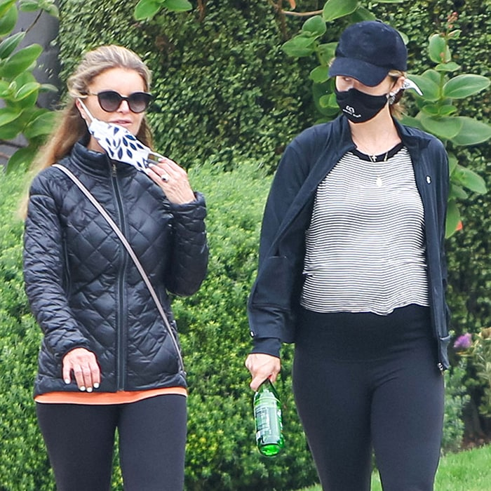 Maria Shriver and daughter Katherine Schwarzenegger go for a walk around their Los Angeles neighborhood on June 24, 2020