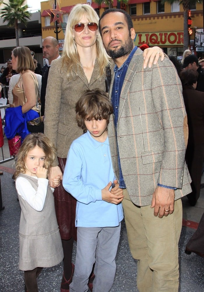 Singer Ben Harper with actress/wife Laura Dern and their children Ellery Harper and Jaya Harper