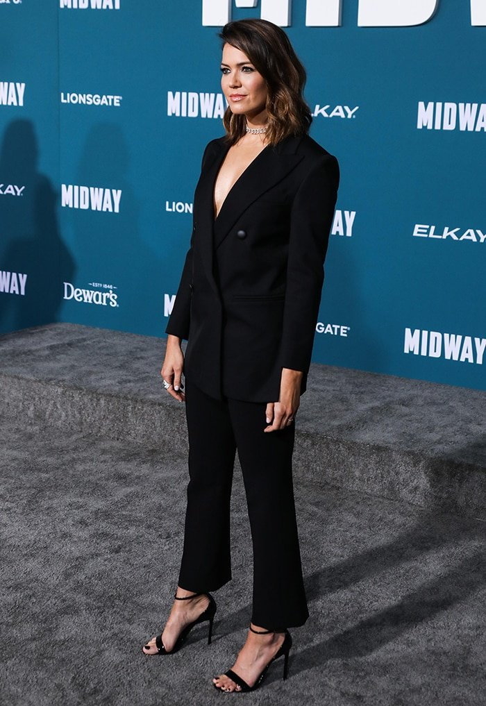 Mandy Moore at the Los Angeles Premiere of Midway held at the Regency Village Theatre on November 5, 2019