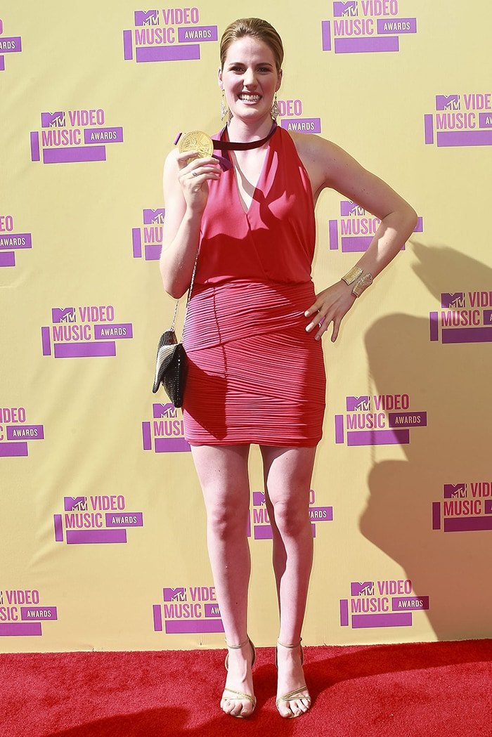 Missy Franklin at the 2012 MTV Video Music Awards held at the Staples Center on September 6, 2012