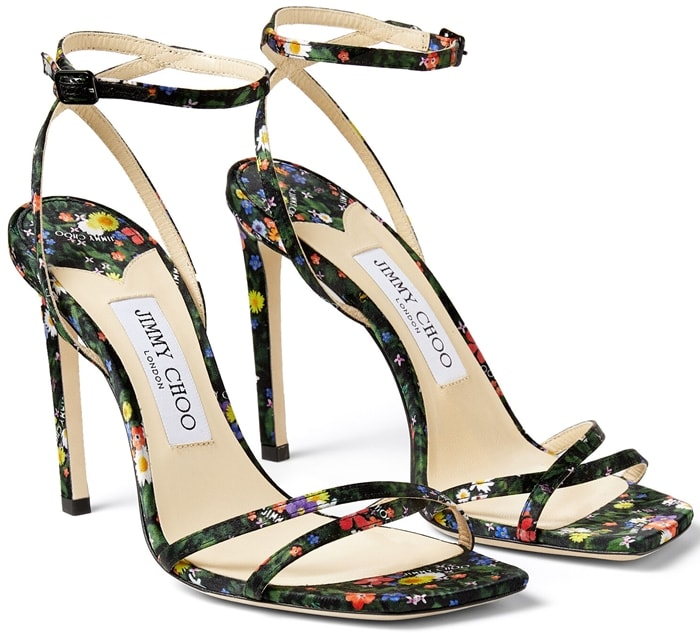 This pair is realised in a high-octane multicolour ditsy-print silk that lends a confident finish to ensembles