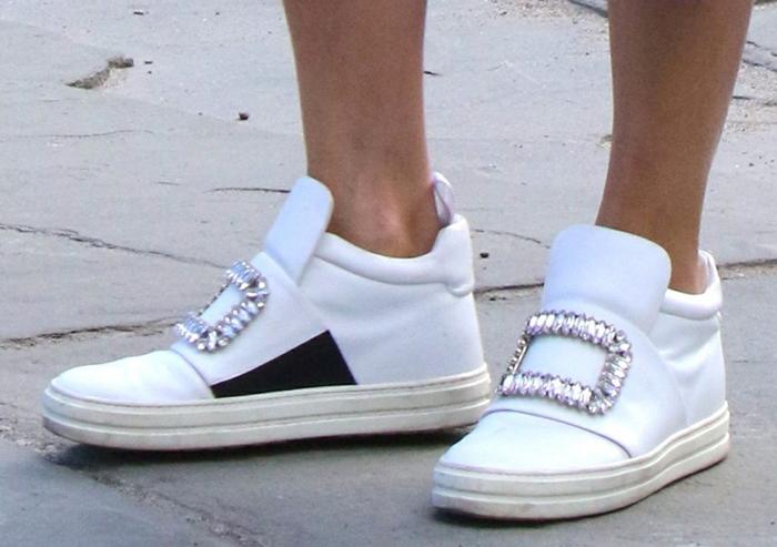 Olivia Palermo wears Roger Vivier Sneaky Viv sneakers