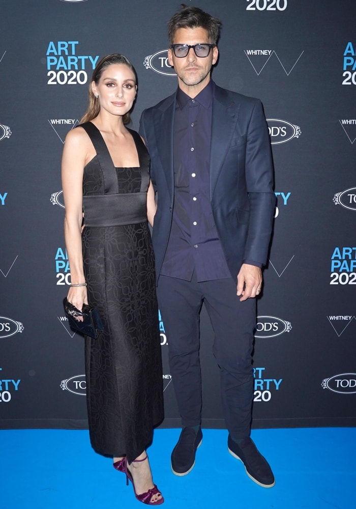 Olivia Palermo and Johannes Huebl attend the 2020 Whitney Art Party