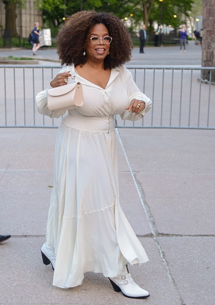 Oprah Winfrey at the Statue Of Liberty Museum opening celebration on May 16, 2019