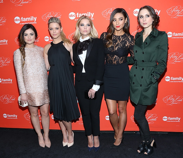 Lucy Hale, Sasha Pieterse, Ashley Benson, Shay Mitchell, and Troian Bellisario at the Pretty Little Liars season finale screening