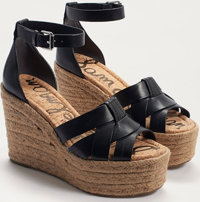 The espadrille platform wedge creates a vintage-chic vibe, perfect for your resort style