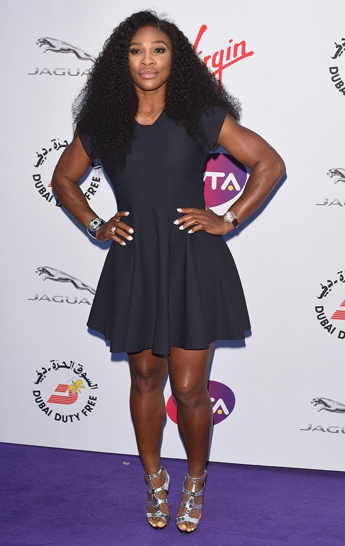 Serena Williams at WTA Pre-Wimbledon Party held at the Roof Gardens in London on June 25, 2015