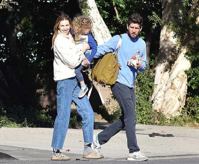 Whitney Port and her husband Tim Rosenman out with their son Sonny in Los Angeles on January 6, 2020