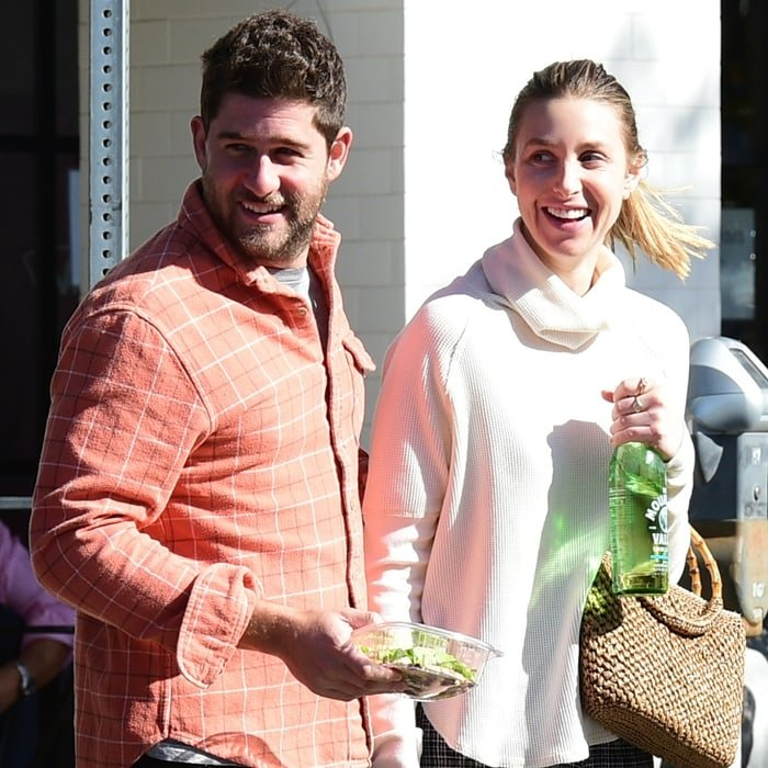 Whitney Port and husband Tim Rosenman are all smiles during a lunch date in Los Angeles